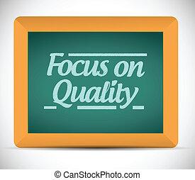 jakość, ognisko, ilustracja