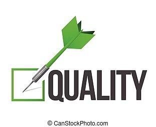 jakość, projektować, tarcza, ilustracja