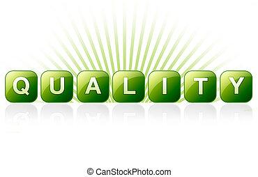 jakość, znak