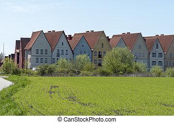 Jakriborg housing area in Sweden