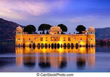 jal mahal, rajasthan, jaipur, india, palace., agua