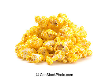 Jalepeno Flavored Cheese Popcorn on a White Background