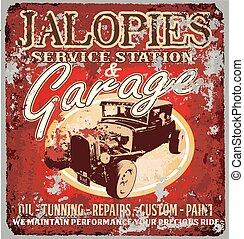 jalopy, garage
