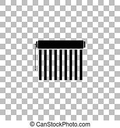 Jalousie icon flat