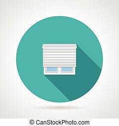 Jalousie window flat vector icon