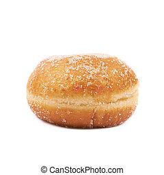 jam, gevulde, doughnut, vrijstaand