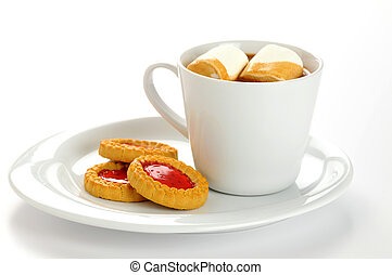 jam, gevulde, koekjes