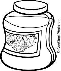 jam in jar cartoon coloring page