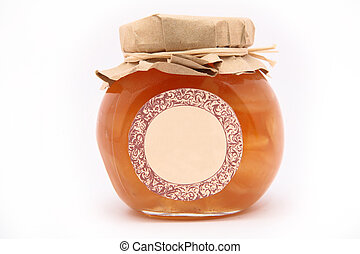 Jam-jar isolated over white