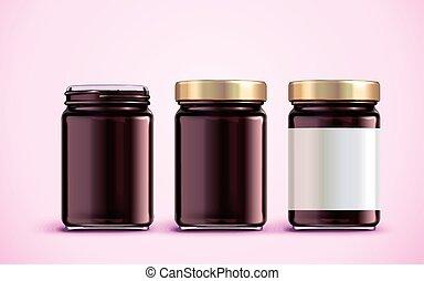 Jam jar package design