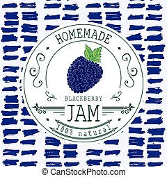 Jam label design template Blackberr