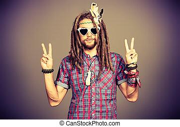 dreadlocks homme sien hippie guitar jeune portrait image recherchez photos clipart. Black Bedroom Furniture Sets. Home Design Ideas
