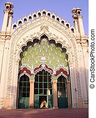 Jama Masjid Lucknow - The central arch of the Shiite Jama...