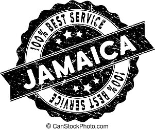 Jamaica Best Service Stamp with Dirty Style