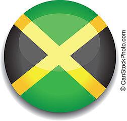 jamaica, botão, bandeira