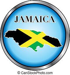 jamaica, botón, redondo
