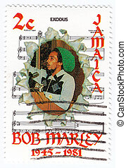 JAMAICA - CIRCA 1981 : stamp printed in Jamaica with Bob...