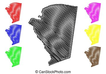 jamaica, cornwall, james, ilustración, (parishes, s., ...