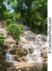 jamaica., dunn's, fluß, falls.