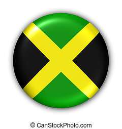 Jamaica Flag - World Flag Button Series - Central...