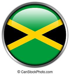 Jamaica Flag glossy button