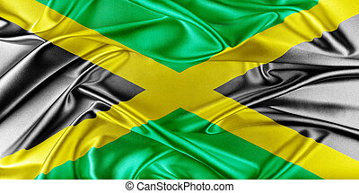 Jamaica Flag - Jamaica Flag. Flag with a beautiful glossy...