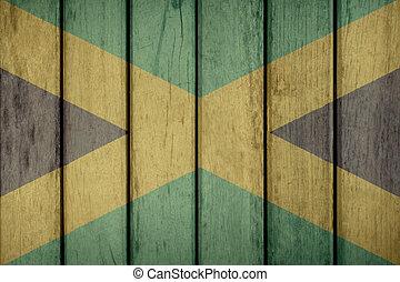 Jamaica Flag Wooden Fence