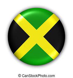 Jamaica Flag - World Flag Button Series - Central America/...