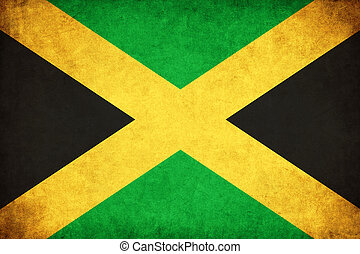 Jamaica grunge flag illustration of country