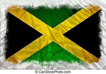 Jamaica grunge flag