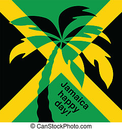 Jamaica happy day Greeting card. Vector illustration.