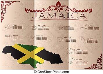 Jamaica, infographics, statistical data, sights. Vector ...