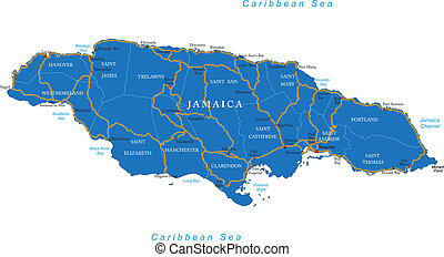 jamaica, kaart