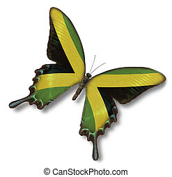 jamaica läßt, auf, papillon
