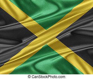 jamaica läßt, mit, a, glänzend, seide, texture.