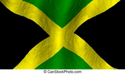 Jamaica Looping Flag Background