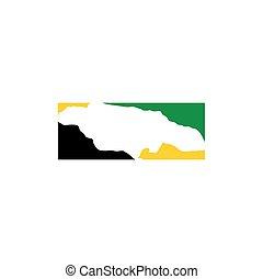 jamaica map logo icon vector symbol element