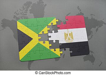 jamaica, mapa, egypt, hádanka, prapor, společnost, národnostní