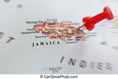 jamaica, mapa