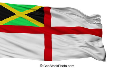 Jamaica Naval Ensign Flag Isolated Seamless Loop - Naval ...
