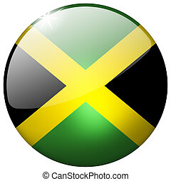 Jamaica Round Glass Button