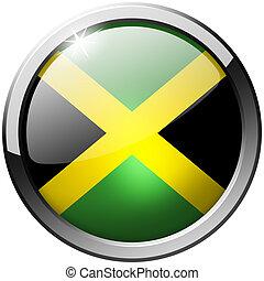 Jamaica Round Metal Glass Button