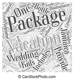 jamaica vacation packages Word Cloud Concept