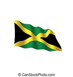 jamaica, vector, bandera, ilustración