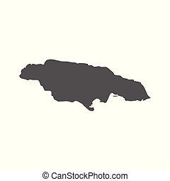 Jamaica vector map. Black icon on white background.