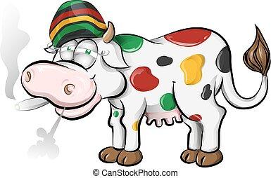 jamaican cow cartoon