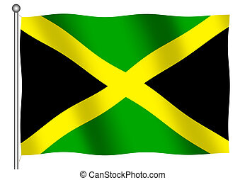 Jamaican Flag waving - Jamaican flag waving