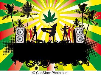 jamaika, beachparty