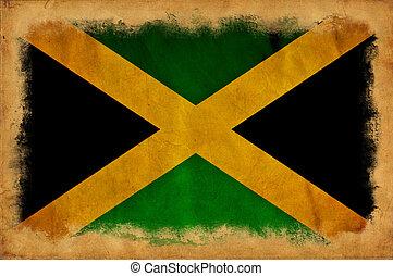 jamaika, grunge, fahne
