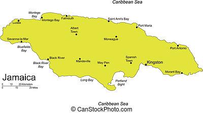 jamaika, insel, karibisches meer